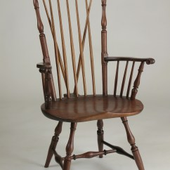Windsor Chair With Arms Sheepskin Rug On Chairs United States Mark Soukup Furniture Makersor Nantucket Fanback Armchair