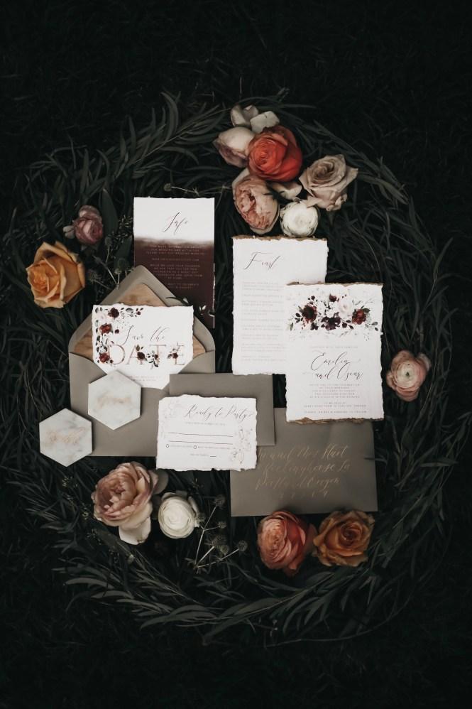 Letters Dust Custom Chalkboard Art Wedding Invitations