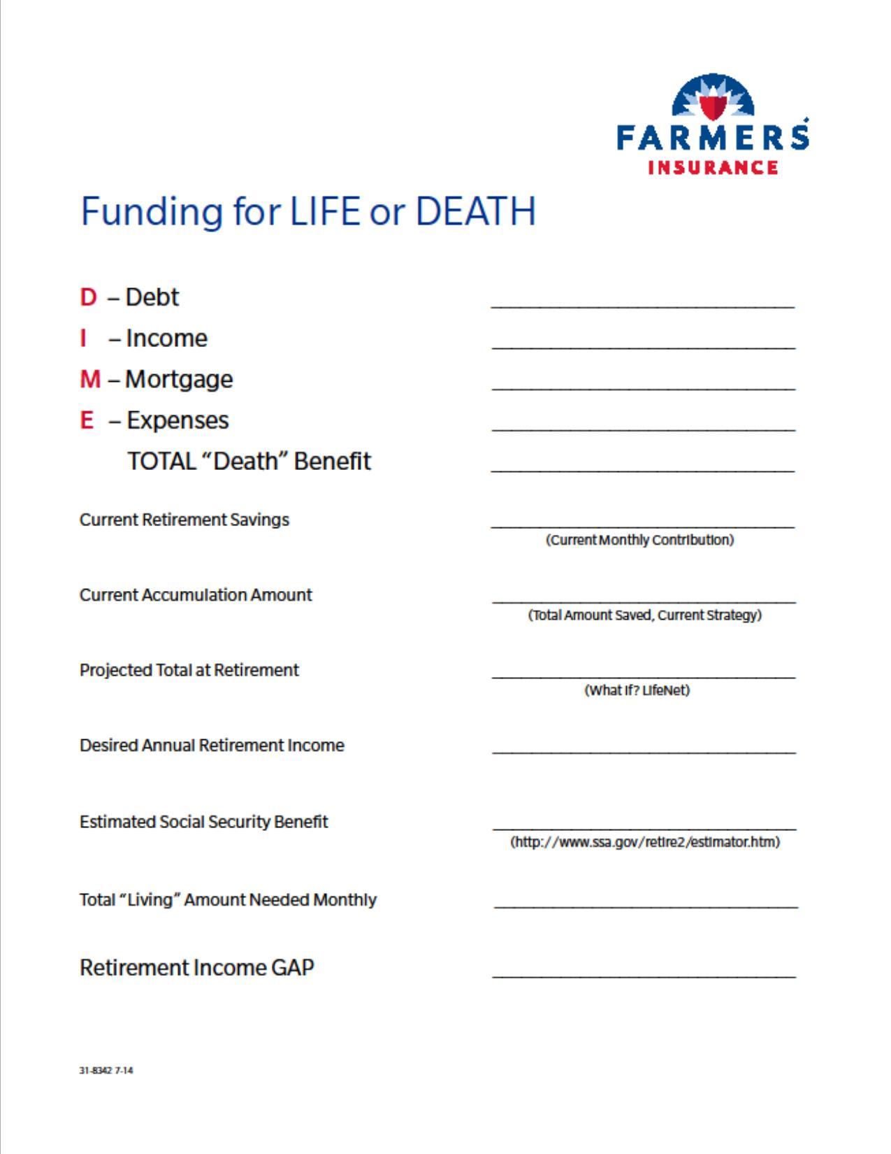 35 Life Insurance Fact Finder Worksheet