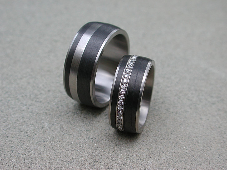 Schmuck aus Carbon mit Diamanten  Brillanten in Bern Schweiz