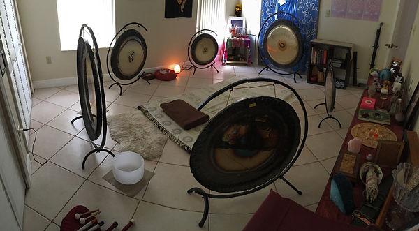 Sound vibrational healing, Gong vortex, gong healing, gong master, numerology, singing bowls, crystal healing, reiki, marma healing, Miami, FL, Trinity Devi
