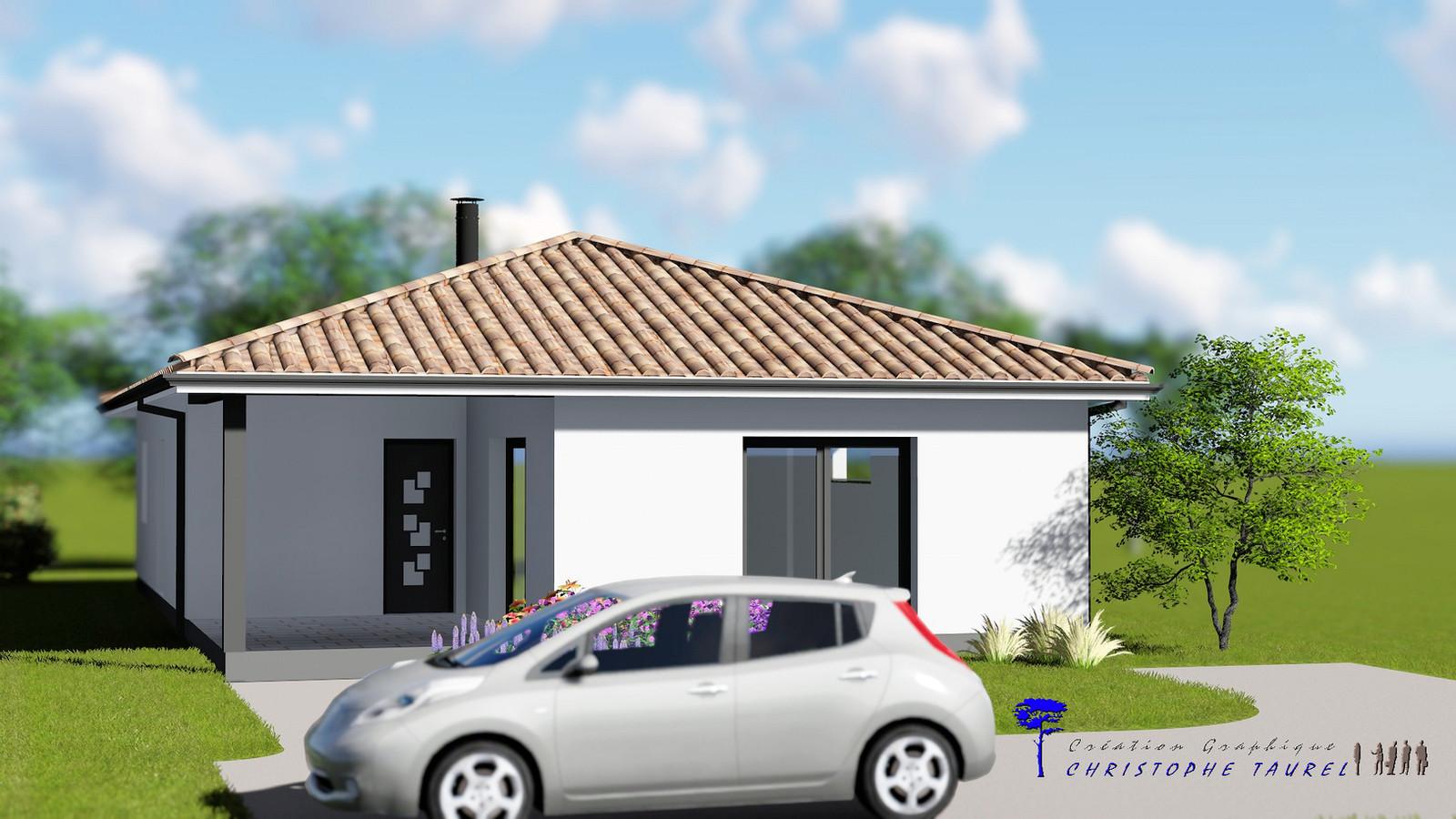 Illustrations 3D de jardins et de maisonsChristophe Taurel