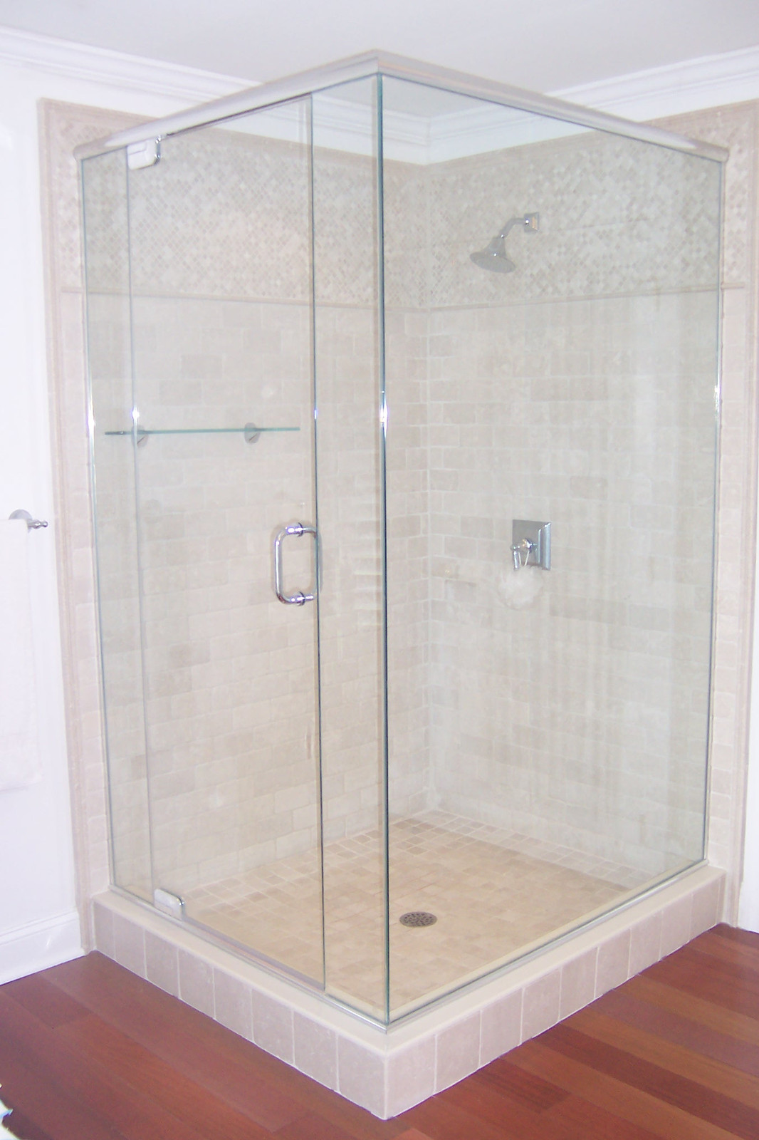 Semi Frameless Corner Glass Shower Enclosure Noble Shower