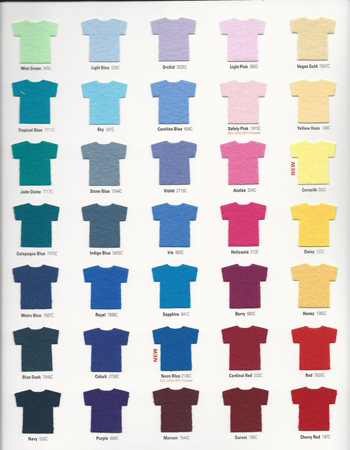 Gildan Color Chart Todayss