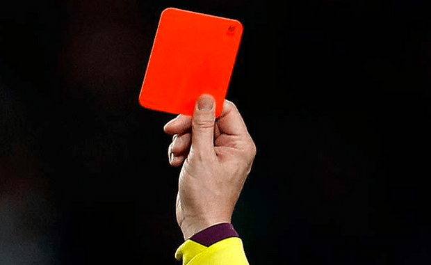 Figure 3 Stock image of referee giving red card. Source Twitter