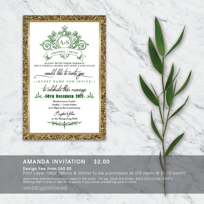 Amanda Wedding Invites Wa Invitations In Perth