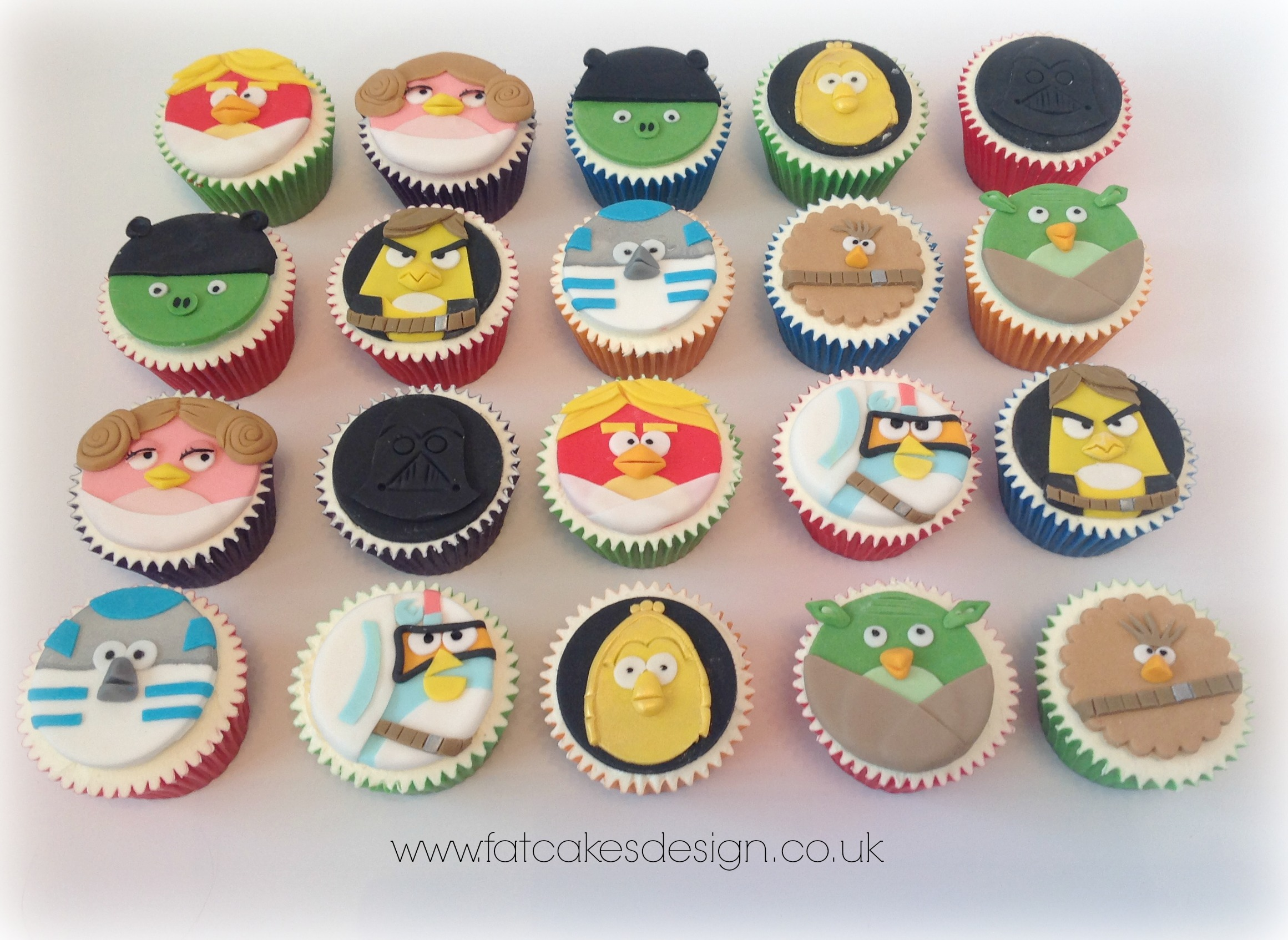 Angry Birds Star Wars Cupcakes
