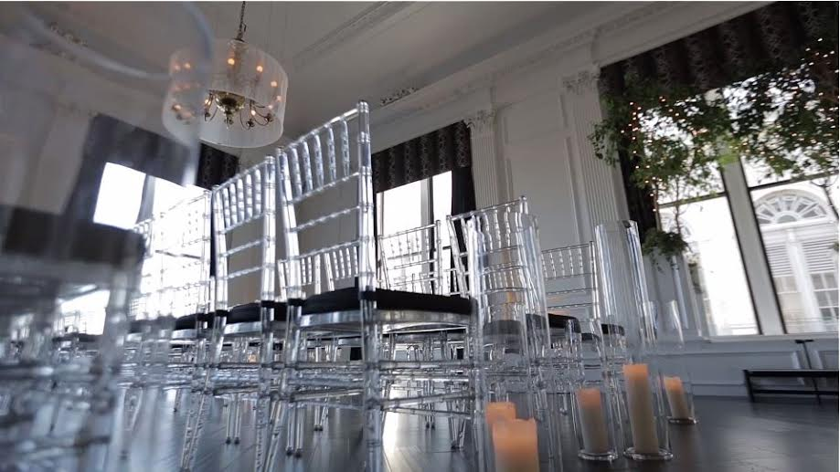 ghost chair rental folding plywood crystal lucite chiavari set up for your event www lilyvevents com