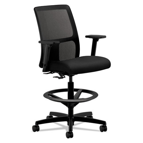 hon ignition fabric chair cover hire north east series mesh low back task stool black upholstered seat