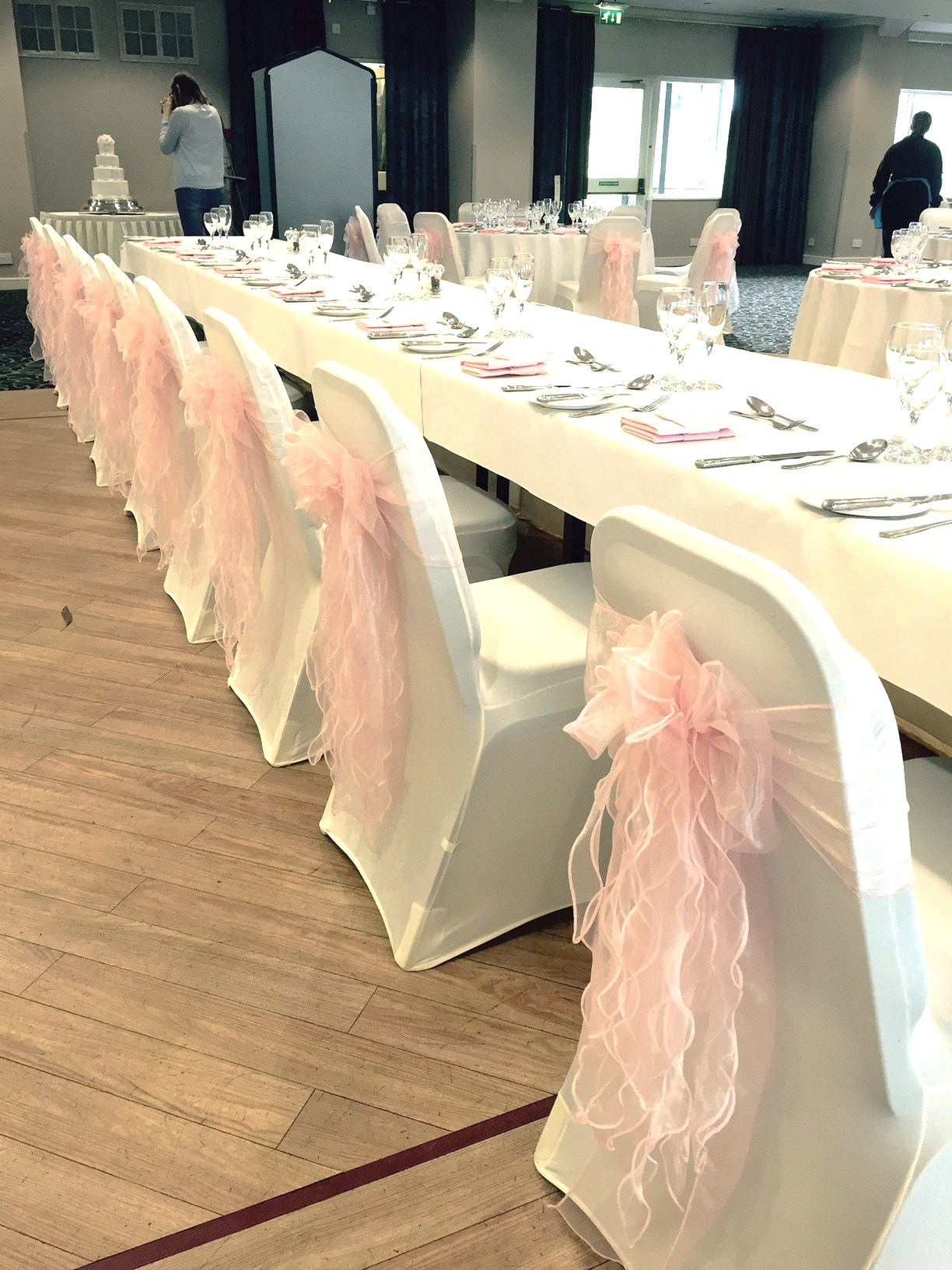 chair covers morecambe small dining room chairs with arms wedding cover hire in lancashire lycra at castle green