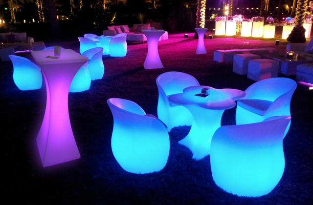 led table and chairs massage reviews furniture puerto rico fl j r audio visuals inc modern outdoor side tables