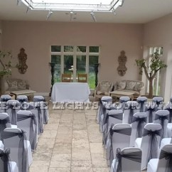 Wedding Chair Cover Hire Chesterfield Fisher Price Frog Centrepiece Nottingham Double At Woodborough Hall 1 Bank Hill Ng14