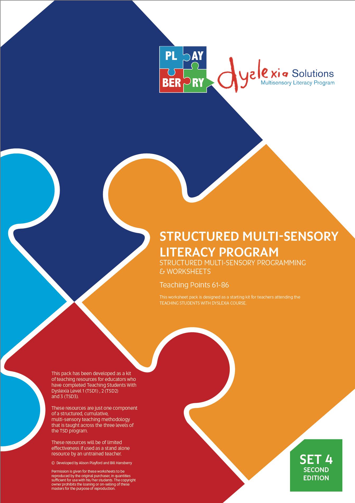 Structured Multi Sensory Literacy Program Structured