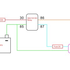 12v 30a Relay 4 Pin Wiring Diagram 3 Position Selector Switch Setup The Switched Power Source With A On Motorcycle