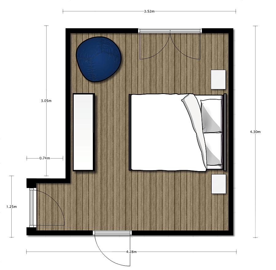 ArchEnjoy_Architecture Studio  pianta camera da letto