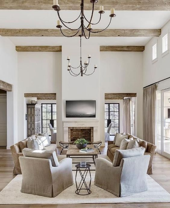 Modern Tuscan Living Room : modern, tuscan, living, Refresh, World, Tuscan, Style, Homes