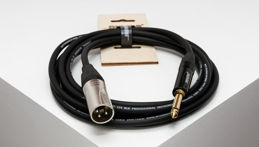 medium resolution of xmjm unbalanced cable with 3 pole xlr male and 6 3 mm 1 4 ts jack connectors myshnoor