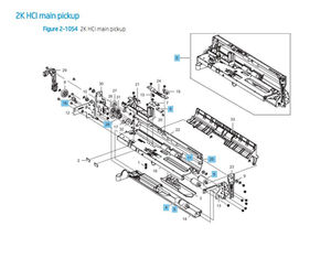 HP Color LaserJet E87640 E87650 E87660 Printer Part Diagrams