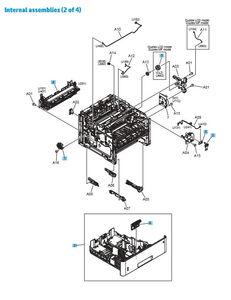 Part Diagrams- HP M501 M506 M527 Printer Laser Printer