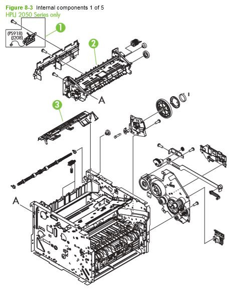Part Diagrams- HP P2030 P2035 P2050 P2055 Fuser Laser Printer