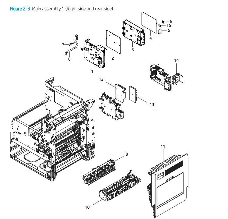 HP Color E72425 E72430 Laser Printer Diagrams