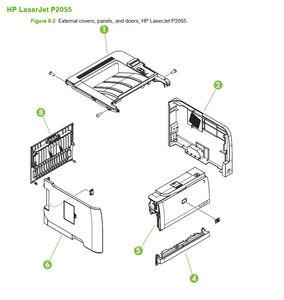 HP P2035 P2055 Laser Printer Diagrams