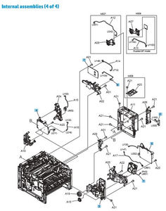 Part Diagrams- HP M501 M506 M527 Printer Laser Printer