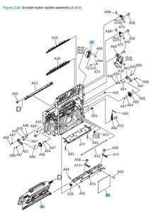 Part Diagrams- HP M806 M830 Laser Printer
