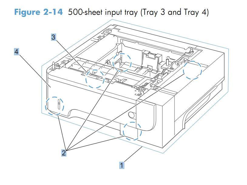 HP M525 Laser Printer Part Diagrams
