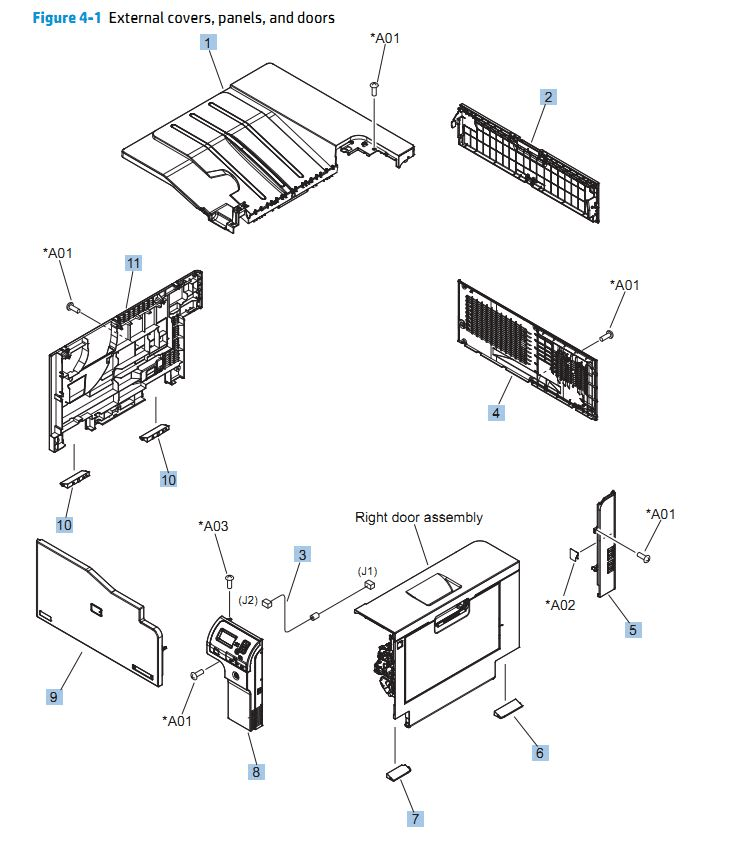 HP 4000 4050 MAINTENANCE KIT INSTRUCTIONS