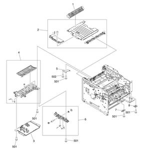 HP Laser M3027 M3035 Printer Part Diagrams CB414A CB415A