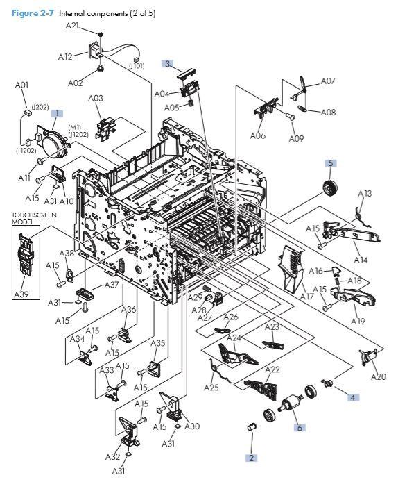 Part Diagrams- HP M401 M425 Laser Printer