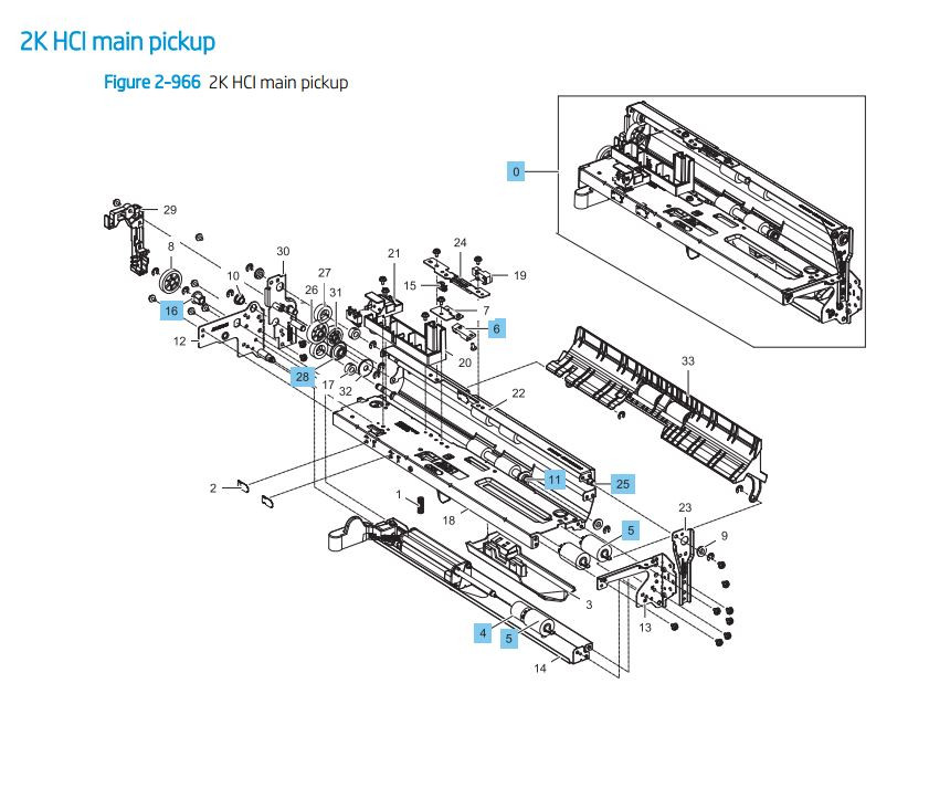 HP Color LaserJet E82540 E82550 E82560 Printer Part Diagrams