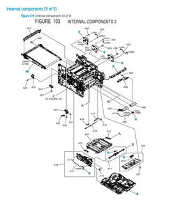 HP Color Laser M454 M479 Printer Part Diagrams