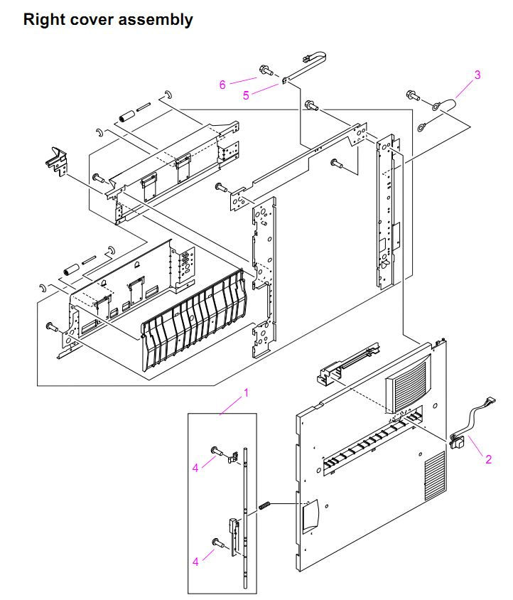 HP LaserJet 9000 9040 9050 MFP Printer Parts Diagrams