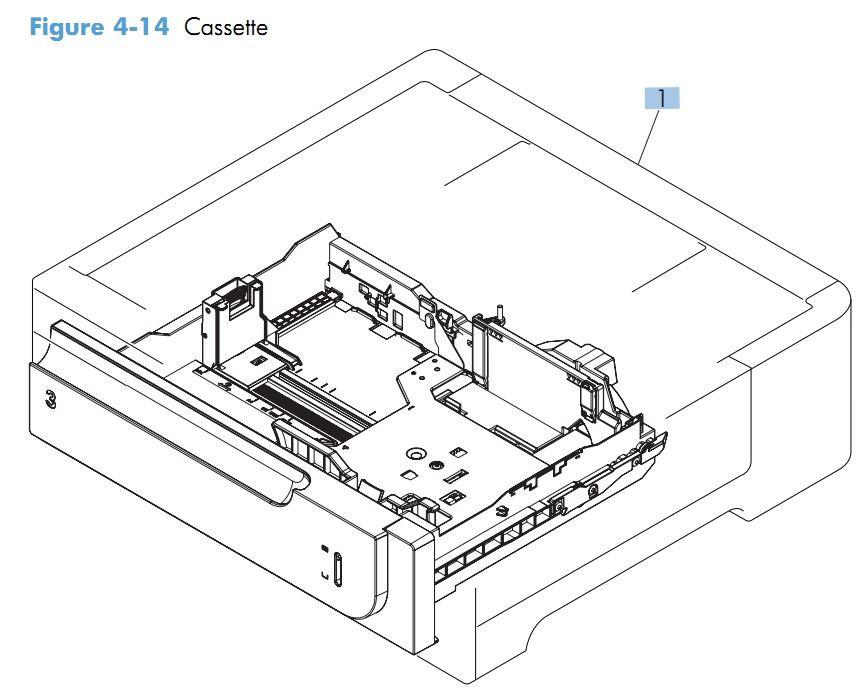 HP M551 Laser Printer Part Diagrams