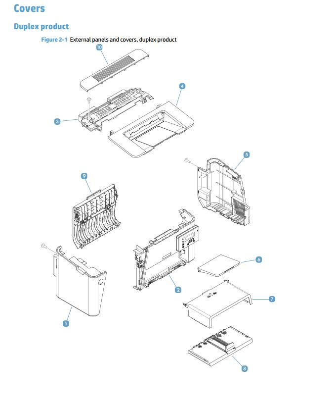 HP M225 M226 Laser Printer Part Diagrams