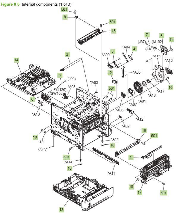 Part Diagrams- HP P4014 P4015 P4515 Laser Printer