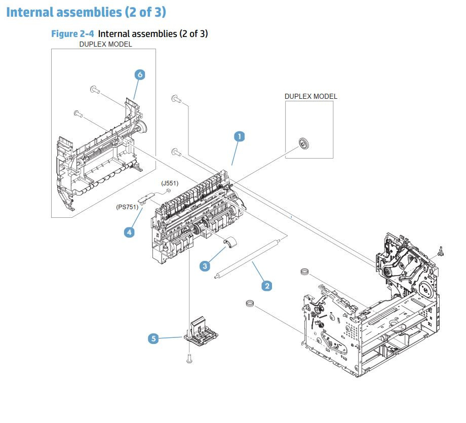 HP M201 M202 Laser Printer Part Diagrams