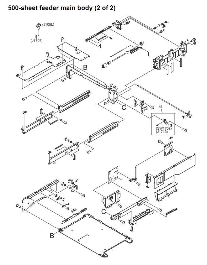 HP LaserJet M4345 Printer Parts Diagrams