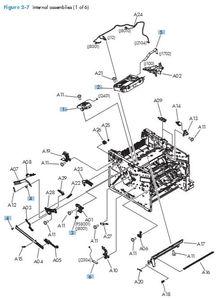 Part Diagrams- HP LaserJet Enterprise 500 MFP M521 M525