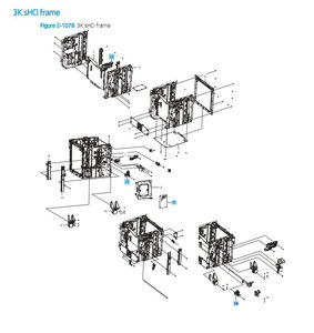 HP Color LaserJet E87640 E87650 E87660 Printer Part Diagrams