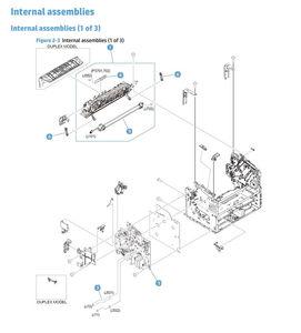 HP M201 M202 Laser Printer Part Diagrams