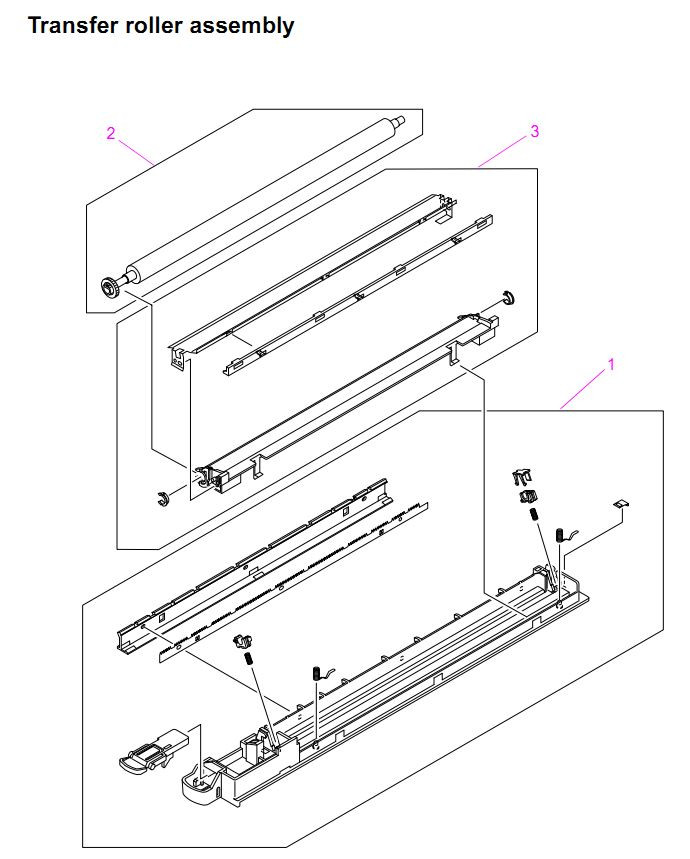 HP LaserJet 9000 9040 9050 MFP Printer Parts Diagrams