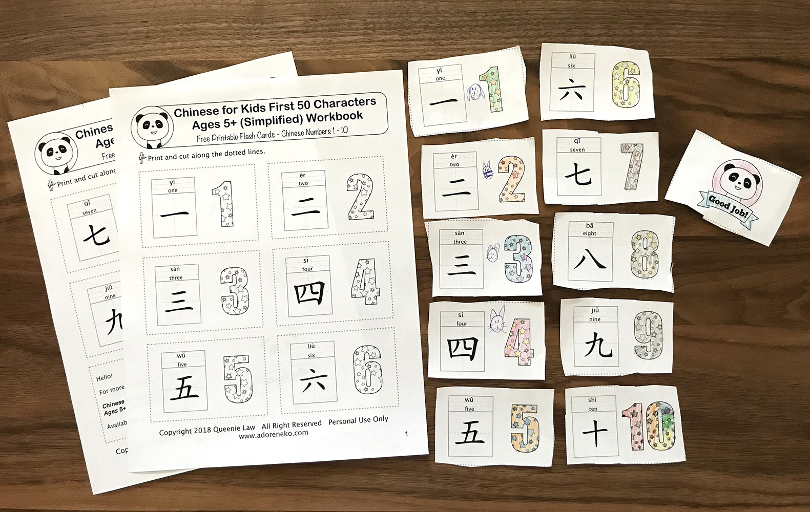 How To Use Chinese Numbers 1 10 Flashcards
