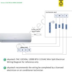 important note if the terminal block on your outdoor unit is the same as the outdoor terminal block on the drawing below your okyotech unit is version  [ 1153 x 1218 Pixel ]