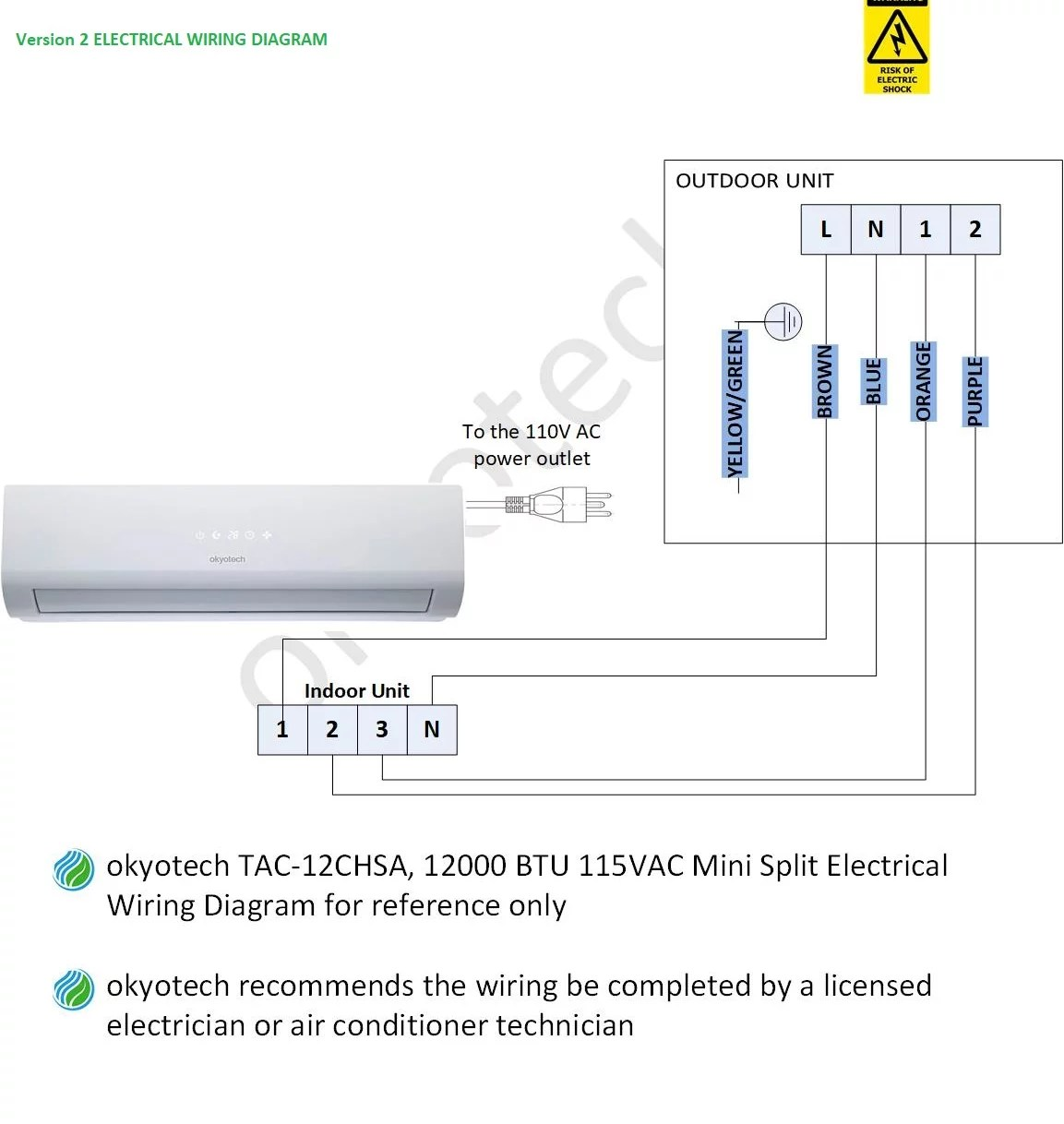 hight resolution of  important note if the terminal block on your outdoor unit is the same as the outdoor terminal block on the drawing below your okyotech unit is version