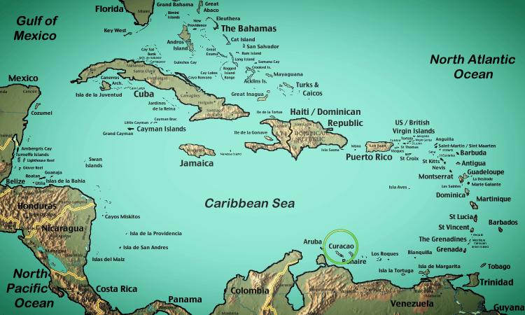 Resultado de imagem para map of curaçao