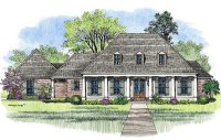 Acadian House Plans Miranda - Louisiana House Plans ...