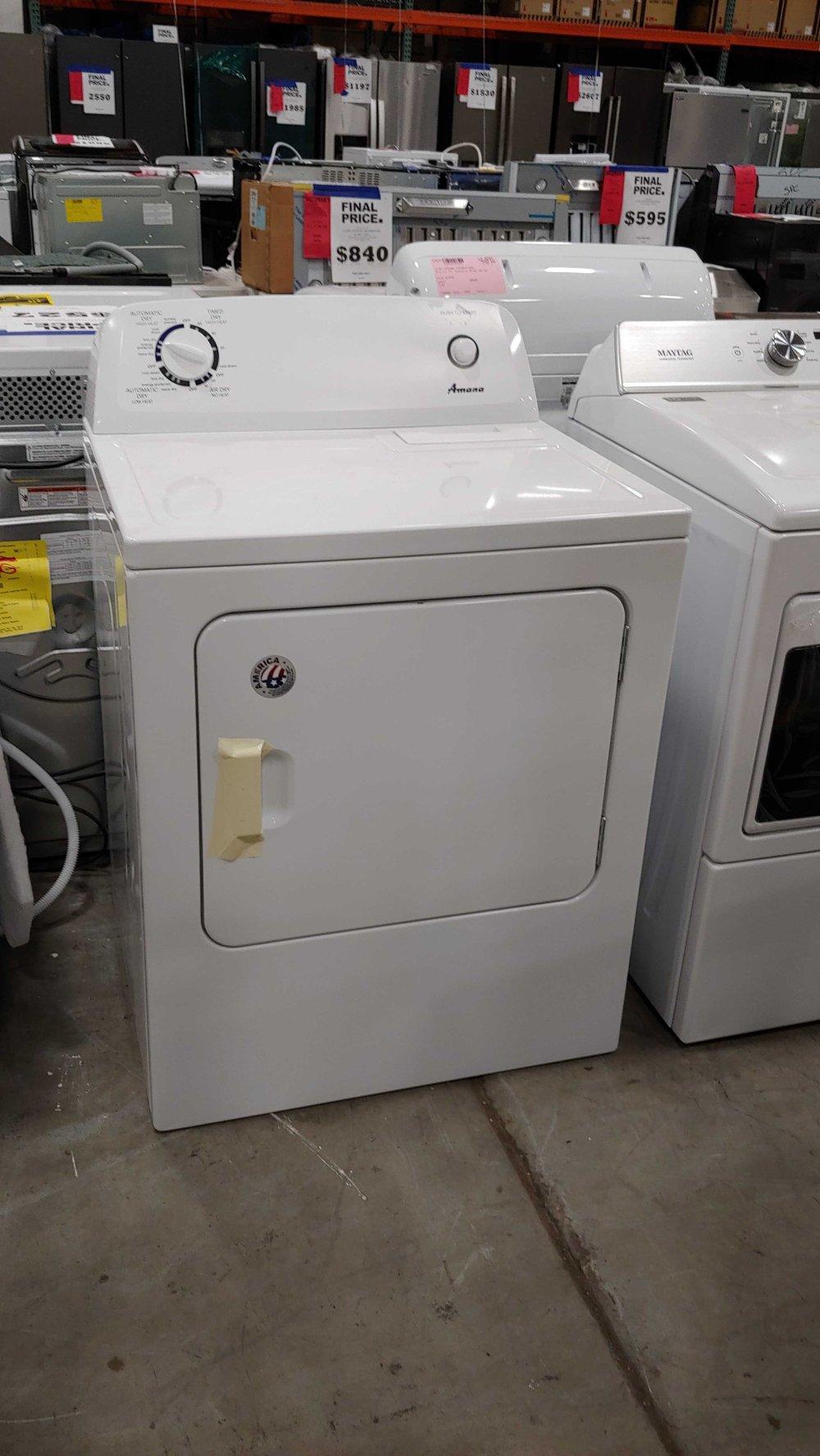 medium resolution of amana 6 5 cu ft electric dryer white 50439